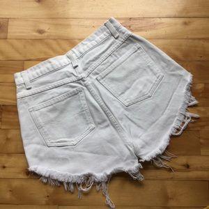 Vintage High Waist White Sasson Shorts